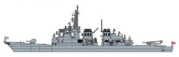 JMSDF DDG Myoko mit weiblichem Offizier · HG 652252 ·  Hasegawa · 1:700