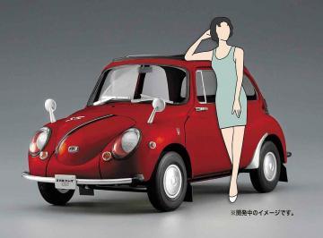 Subaru 360 Young ss mit 60er Jahre Girl · HG 652291 ·  Hasegawa · 1:24