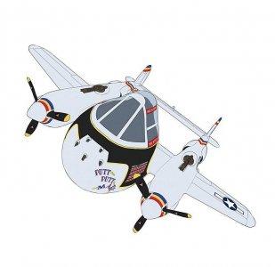 EGG-Plane P35 Lightning · HG 660136 ·  Hasegawa