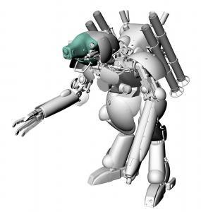 Humanoid Unmmaned Interceptor Großer Hund, Dachshund · HG 664120 ·  Hasegawa · 1:20