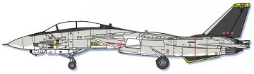 Area 88 F14A Tomcat, Micky Scymon · HG 664755 ·  Hasegawa · 1:72