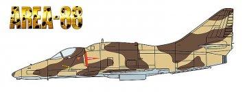 Area 88 A-4F Skyhawk, Greg Gates · HG 664773 ·  Hasegawa · 1:72