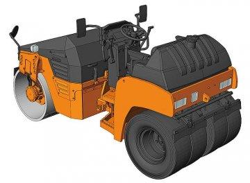 Vibrations-Straßenwalze Hitachi ZC50C5 · HG 666002 ·  Hasegawa · 1:35