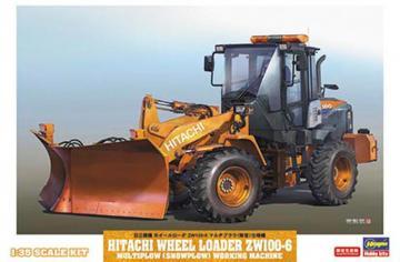 Hitachi Radlader ZW-100-6 mit Schneepflug · HG 666102 ·  Hasegawa · 1:35