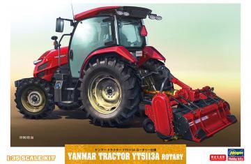 Yanmar Traktor YT5113A mit Mulcher · HG 666106 ·  Hasegawa · 1:35