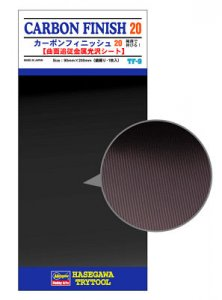 Carbon Fiber Finish 20 (Fine-meshes) Detail Up Vapor Deposition Sheet · HG 671809 ·  Hasegawa