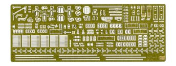 Detail Up Etching Parts Basic C for IJN Aircraft Carrier Akagi. Rettungsboote, Propeller usw. · HG 672128 ·  Hasegawa · 1:350