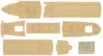 Wooden Deck for Hikawamaru. · HG 672151 ·  Hasegawa · 1:350