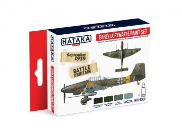 Early Luftwaffe - Red Line Paint set (4 x 17ml) · HTK AS002 ·  Hataka