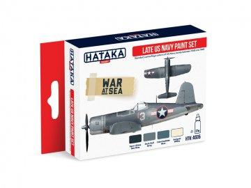 Late US Navy - Red Line Paint set (4 x 17ml) · HTK AS005 ·  Hataka