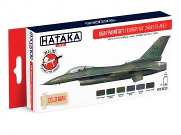 USAF (European Camouflage) - Red Line Paint set (6 x 17ml) · HTK AS010 ·  Hataka
