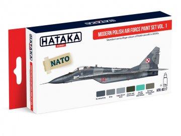 Modern Polish Air Force Vol. 1 - Red Line Paint set (6 x 17ml) · HTK AS017 ·  Hataka