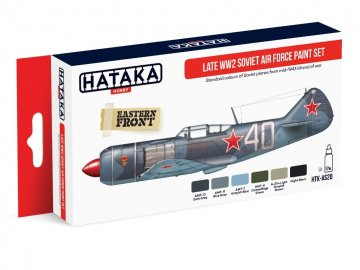Late WW2 Soviet Air Force - Red Line Paint set (6 x 17ml) · HTK AS020 ·  Hataka