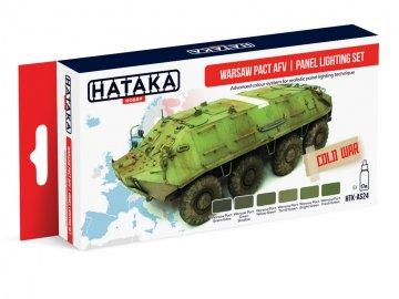 Warsaw Pact AFV | panel lighting set - Red Line Paint set (6 x 17ml) · HTK AS024 ·  Hataka