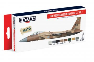 USAF Aggressor Squadron Vol. 1 - Red Line Paint set (8 x 17ml) · HTK AS029 ·  Hataka