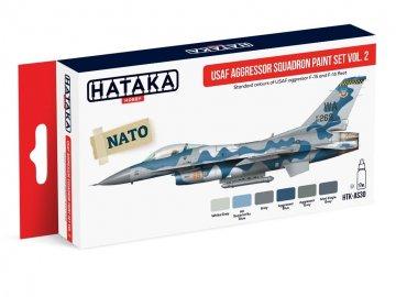 USAF Aggressor Squadron Vol. 2 - Red Line Paint set (6 x 17ml) · HTK AS030 ·  Hataka