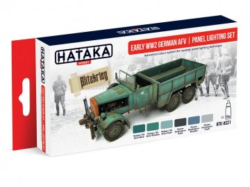 Early WW2 German AFV | panel lighting set - Red Line Paint set (6 x 17ml) · HTK AS031 ·  Hataka