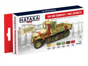 1945 WW2 German AFV | panel lighting set - Red Line Paint set (6 x 17ml) · HTK AS036 ·  Hataka