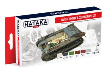 WW2 AFV Interior Colours - Red Line Paint set (6 x 17ml) · HTK AS037 ·  Hataka