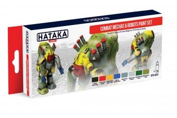 Combat Mechas & Robots - Red Line Paint set (8 x 17ml) · HTK AS041 ·  Hataka