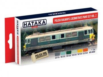 Polish Railways locomotives Vol. 2 - Red Line Paint set (6 x 17ml) · HTK AS042 ·  Hataka
