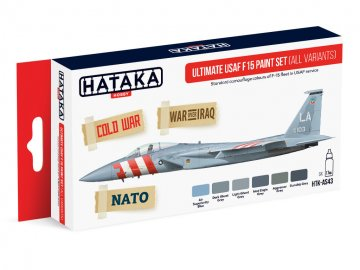 Ultimate USAF F15 (all variants) - Red Line Paint set (6 x 17ml) · HTK AS043 ·  Hataka