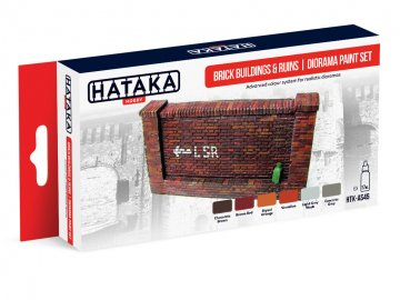 Brick buildings & ruins | diorama - Red Line Paint set (6 x 17ml) · HTK AS045 ·  Hataka