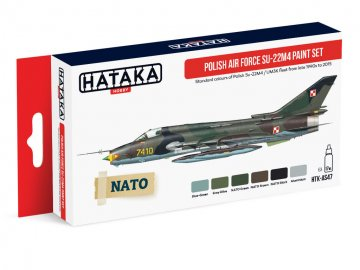 Polish Air Force Su-22M4 - Red Line Paint set (6 x 17ml) · HTK AS047 ·  Hataka