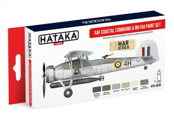 RAF Coastal Command & RN FAA - Red Line Paint set (6 x 17ml) · HTK AS049 ·  Hataka