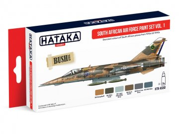 South African Air Force Vol. 1 - Red Line Paint set (6 x 17ml) · HTK AS050 ·  Hataka