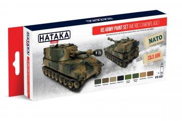 US Army (MERDC camouflage) - Red Line Paint set (8 x 17ml) · HTK AS051 ·  Hataka