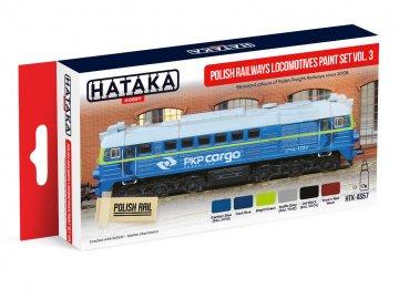 Polish Railways locomotives Vol. 3 - Red Line Paint set (6 x 17ml) · HTK AS057 ·  Hataka