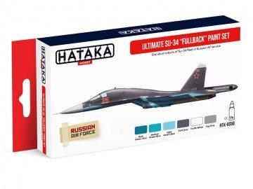 Ultimate Su-34 Fullback - Red Line Paint set (6 x 17ml) · HTK AS058 ·  Hataka