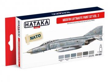 Modern Luftwaffe Vol. 3 - Red Line Paint set (6 x 17ml) · HTK AS061 ·  Hataka