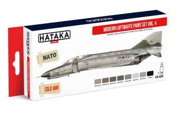 Modern Luftwaffe Vol. 4 - Red Line Paint set (8 x 17ml) · HTK AS066 ·  Hataka