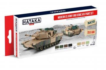 Modern US Army and USMC AFV - Red Line Paint set (8 x 17ml) · HTK AS067 ·  Hataka