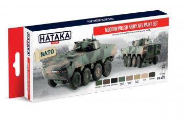 Modern Polish Army AFV - Red Line Paint set (8 x 17ml) · HTK AS072 ·  Hataka