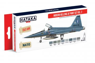 Modern Hellenic AF Vol. 2 - Red Line Paint set (8 x 17ml) · HTK AS075 ·  Hataka