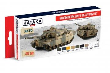 Modern British Army & RAF AFV - Red Line Paint set (8 x 17ml) · HTK AS077 ·  Hataka