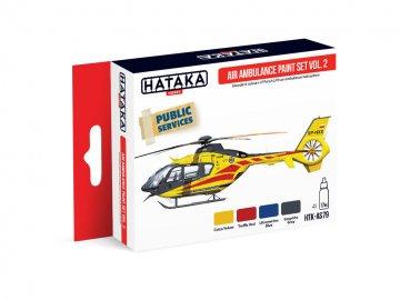 Air Ambulance (HEMS) Vol. 2 - Red Line Paint set (4 x 17ml) · HTK AS079 ·  Hataka