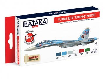 Ultimate Su-33 Flanker-D - Red Line Paint set (6 x 17ml) · HTK AS083 ·  Hataka