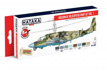 Russian AF Helicopters Vol. 1 - Red Line Paint set (8 x 17ml) · HTK AS086 ·  Hataka