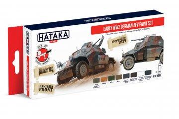 Early WW2 German AFV - Red Line Paint set (8 x 17ml) · HTK AS088 ·  Hataka