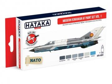 Modern Romanian AF Vol. 1 - Red Line Paint set (6 x 17ml) · HTK AS091 ·  Hataka