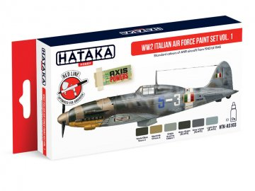 WW2 Italian Air Force Paint set Vol. 1 - Red Line Paint set (6 x 17ml) · HTK AS103 ·  Hataka