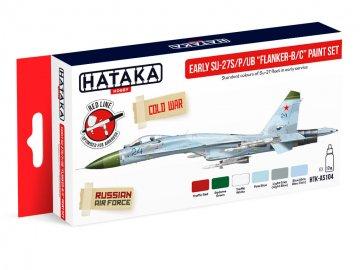 Early Su-27S/P/UB Flanker-B/C - Red Line Paint set (6 x 17ml) · HTK AS104 ·  Hataka