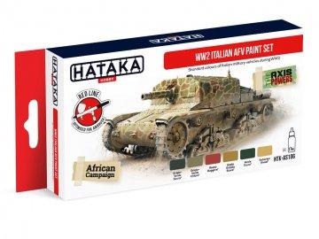 WW2 Italian AFV - Red Line Paint set (6 x 17ml) · HTK AS106 ·  Hataka