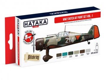 WW2 Dutch AF Vol. 1 - Red Line Paint set (6 x 17ml) · HTK AS107 ·  Hataka