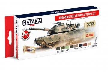 Modern Australian Army AFV - Red Line Paint set (8 x 17ml) · HTK AS108 ·  Hataka