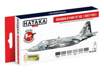 Ukrainian AF Vol. 2 (Grey Pixel) - Red Line Paint set (6 x 17ml) · HTK AS109 ·  Hataka